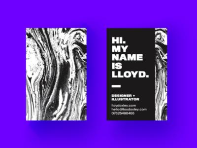 Rebranding myself identity texture business card branding