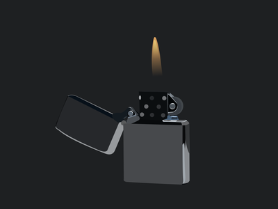 Zippo art vectorart vector inkscape illustrator illustration drawing reflection steel metal fire zippo lighter