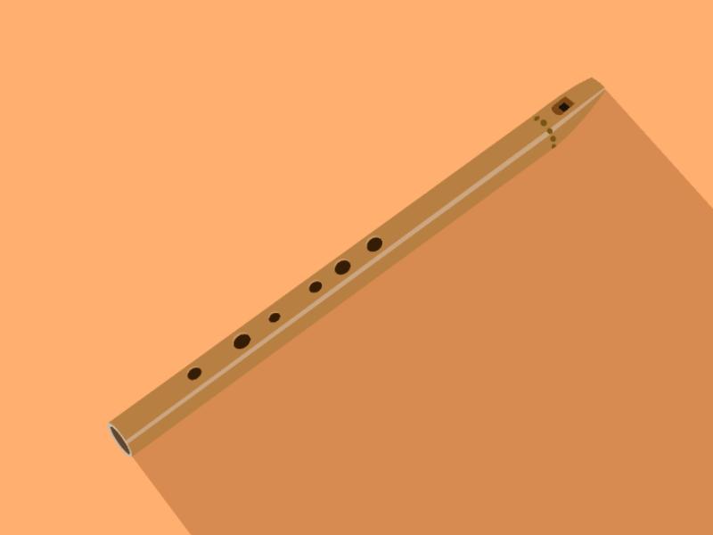 Flute illustration vector