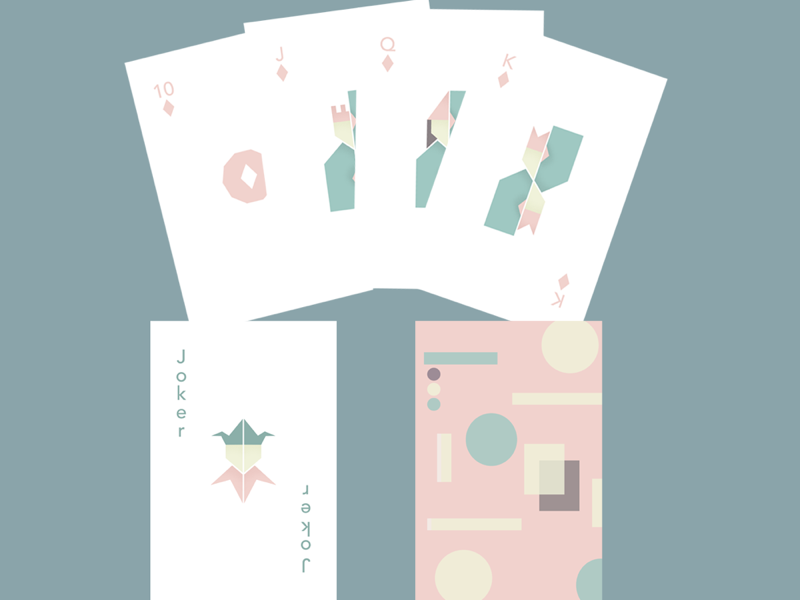 Subdued - Playing Cards illustration flat design graphic design minimalism geometric pastel playing cards