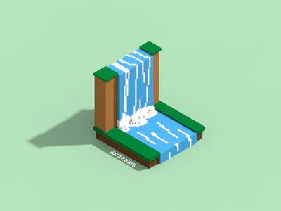 Voxel Waterfall