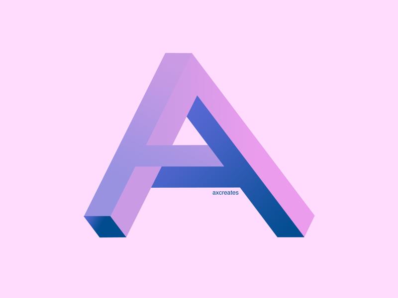 A flat design typographic design graphic design geometric isometric typography