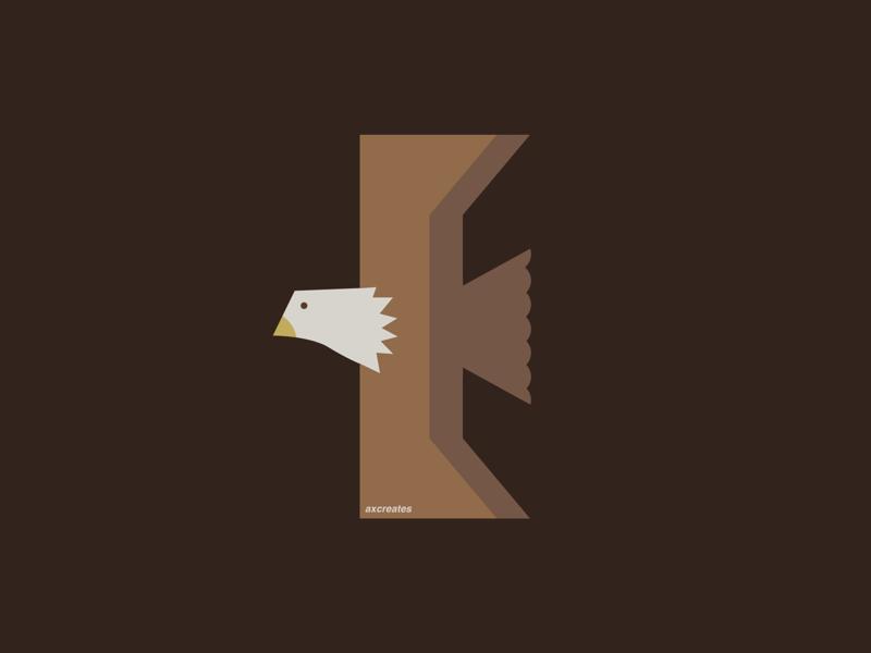 E for eagle vector design vector art vector illustration flat design graphic design typography
