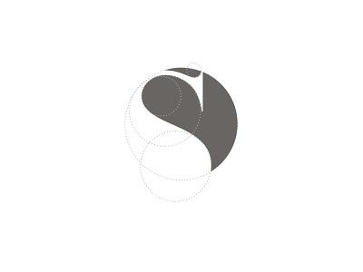 "logo construction ""S + yin yang"" logo logodesign"