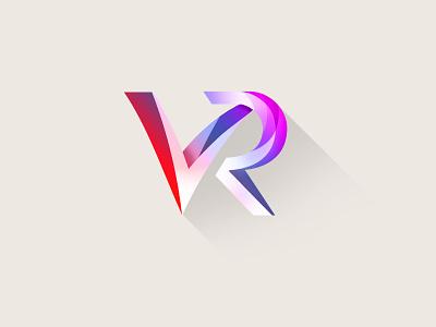 VR Monogramm color design logo monogram