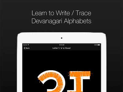 Learn to Write / Trace Devanagari Alphabets calligraphy typography indic language hindi sanskrit marathi india language indic letter alphabet devanagari