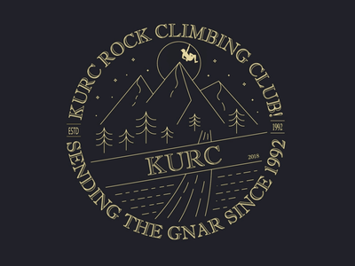 Climbing Club Shirt Design - University of Kansas