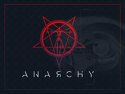 Anarchy Logo typography logotype skeleton anatomy star dark design branding logo