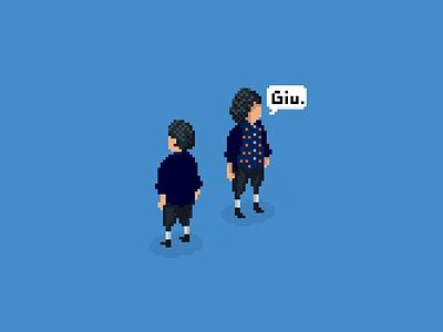 Giu pixel isometric 2d drawing art design personaje character game pixelart pixel