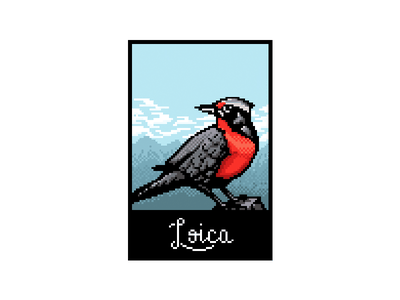 Loica 2d videojuego ilustracion pajaro loica chile illustration bird game design pixelart pixel
