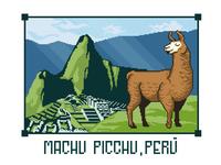 Machu Picchu Llama