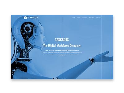 Taskbots website design and development ux uiux scifi future frontend webdesign design ui website