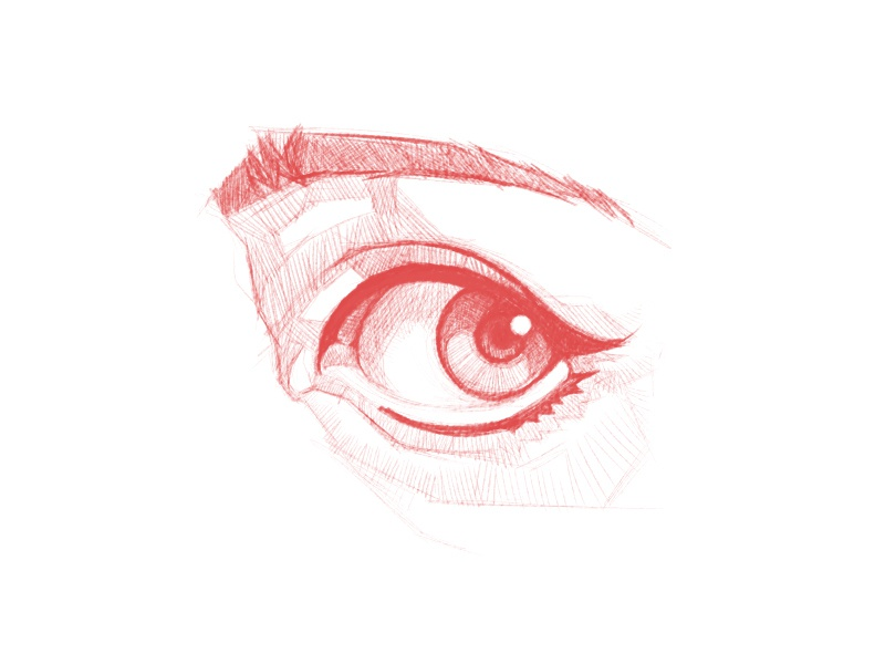 Looking ~ look occhio ojo draw disegno ilustracion illustration dibujo sketchbook sketch drawing eye