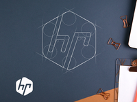 Logo grid of HP logo