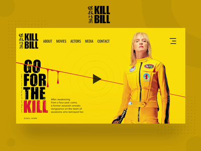 Kill Bill Website Interface animation website ux ui ui design website concept website design illustration cartoon design character