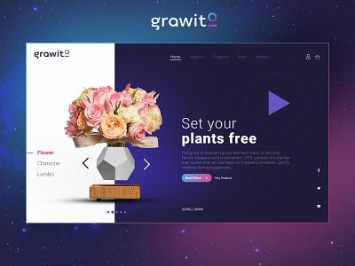 Grawito - Website Interface ux app illustration typography branding website design logo art ui design