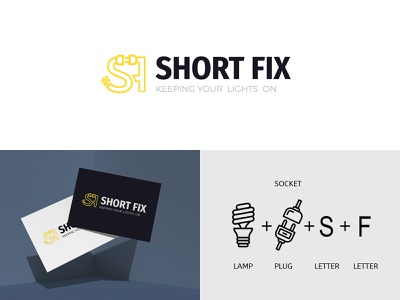 Short Fix Brading Logo Design drawing minimal art character illustration icon typography vector branding logo