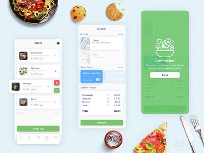 Food Order App UI / UX Design web design mobile ui design character illustration app branding ux ui art