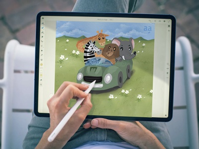 Lion, Zebra, Elephant and Giraffe Children's Book Drawing digital illustration digital painting digital art art drawing illustration art cartoon illustration design character childbook