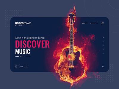 Boomtown Studie - UI/UX  Redesign web dark soft modern clear clean branding logo uidesign website ux ui website design art design animation