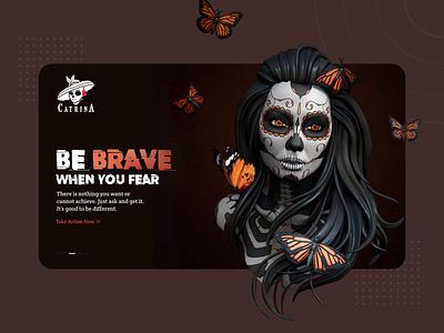 Catrina UI/UX Website Design typography ux ui art modern clean web website design animation