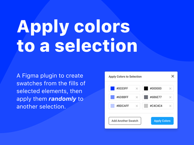 Random Color Figma Plugin random generator colour color figmadesign figma plugin design app ui