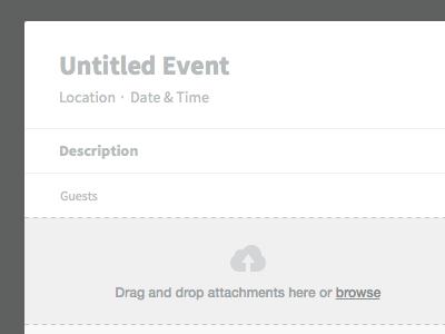 New Event (Empty) invisible ui freebie sketch calendar app empty state