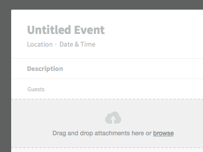 New Event (Empty) invisible ui freebie sketch calendar app empty state