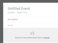 New Event (Empty)
