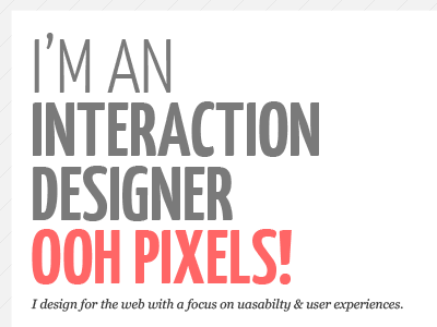 A sneak peak at my new site web design interaction design ixd usability typography web font yanone