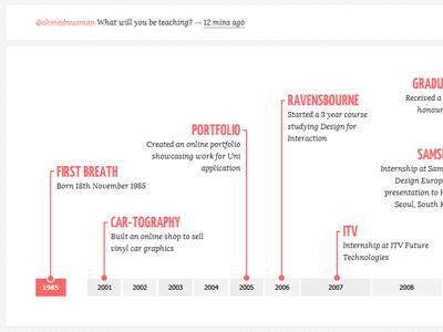 Resume Timeline resume cv timeline markup css html web design