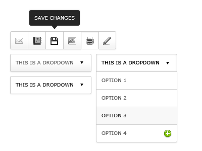 Some UI Elements ui toolbar dropdown tooltip icons