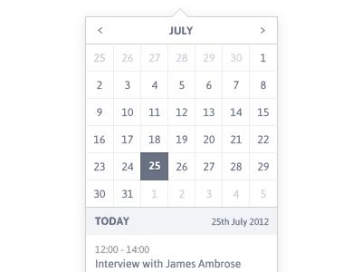 Calendar calendar app date asap dropdown
