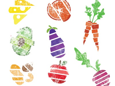 Fruit And Veg illustrations