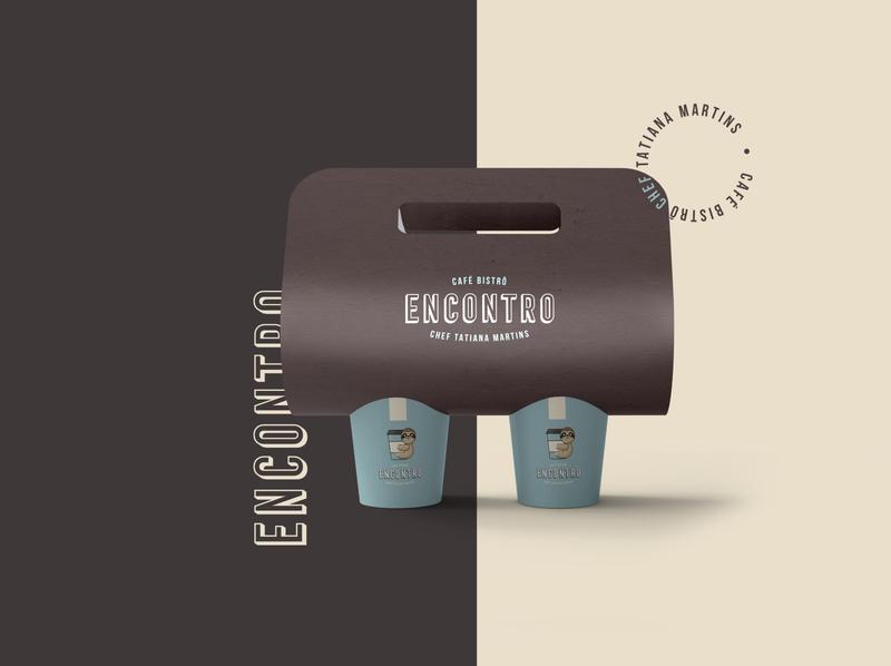 Encontro Café Bistrô logodesign animal illustration coffee vector branding design