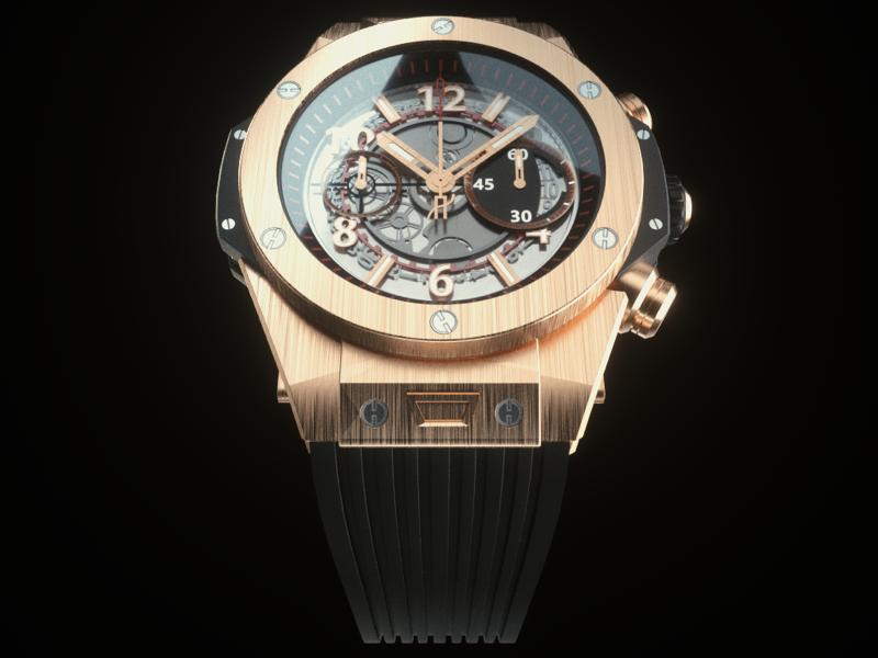 Hublot Big Bang Unico Product Render timepiece watch big bang hublot realism octane render cinema 4d 3d product render product design cgi rendering render
