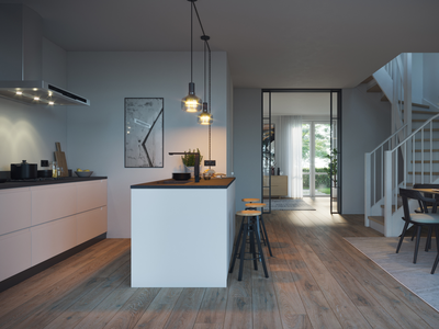 Kitchen interior render