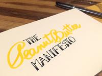 The Peanut Butter Manifesto
