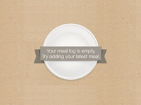 No meals in your log - Mealsapp
