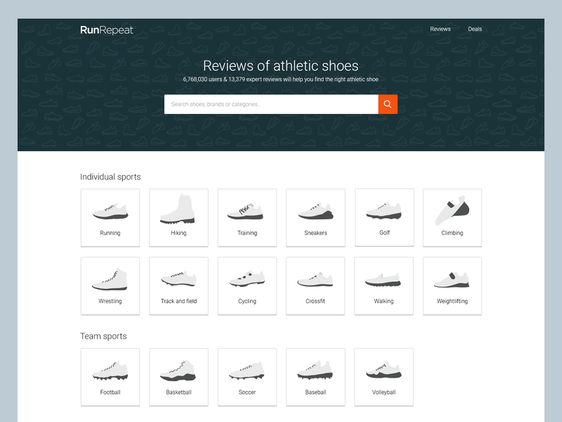 RunRepeat homepage