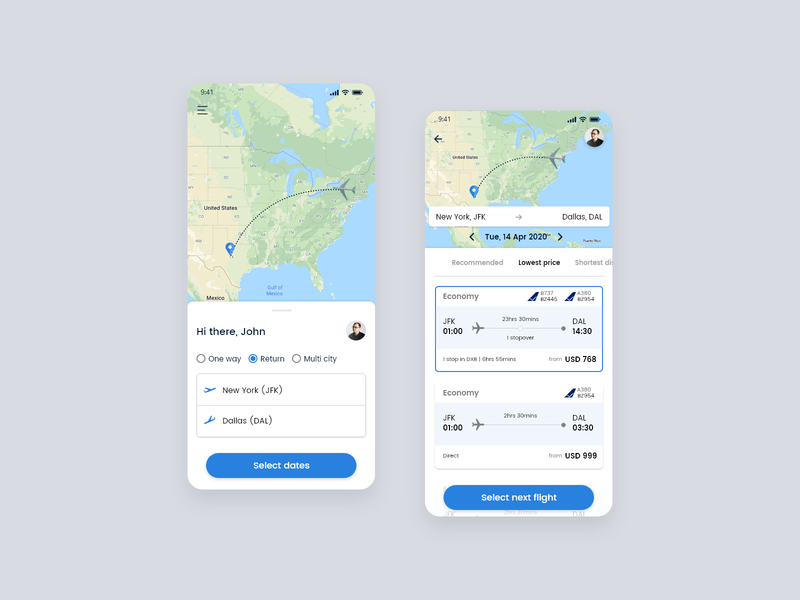 Airlines flight booking
