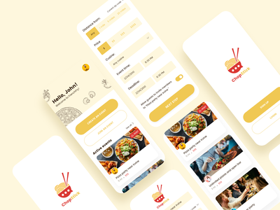 Food event app - Daily UI Challenge daily challange dailyui uxdesign ui app design event food