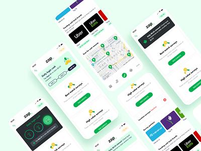 Cash back app material daily ui challenge dailyui iphone ui design app-design ios ui