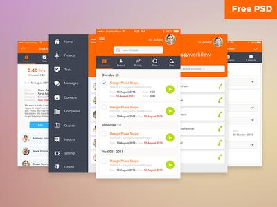 Workflow UI Free PSD