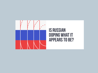 Russian Doping typogaphy doping russia banner design illustration