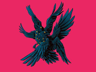 Odin's Eyes character design challenge procreate illustration mithology animal characterdesign