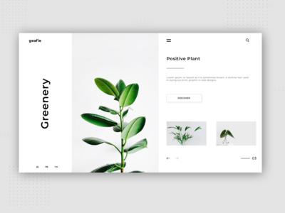 Informative Plant Web UI Design