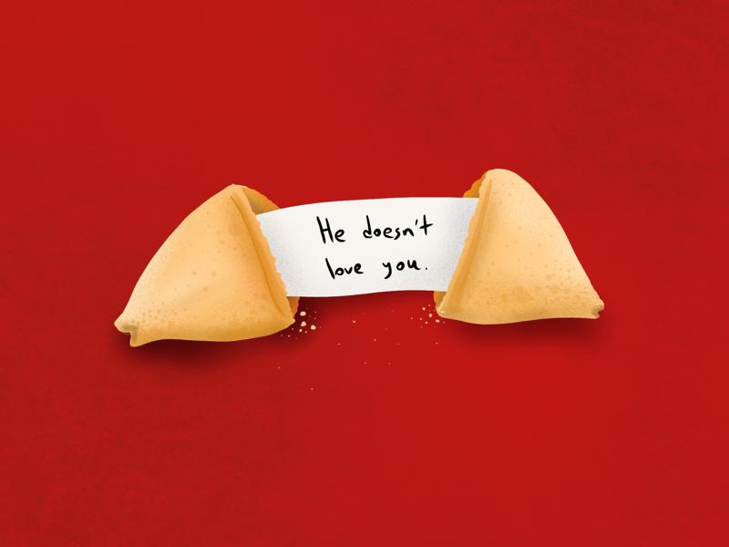 Torture Cookie digital painting procreate chinese love fortune cookie fortune food cookie food illustration design editorial illustration