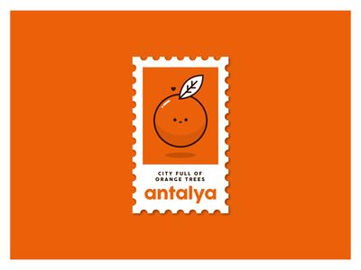 Antalya Stamp - Turkey