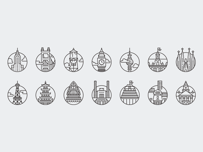 City Icons for Offscreen Magazine #5 icon set free icons tourism icons city icons icon kit icon pack icons icon ideogram cities offscreen magazine download